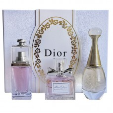 Подарочный набор Christian Dior Three Sets Perfume